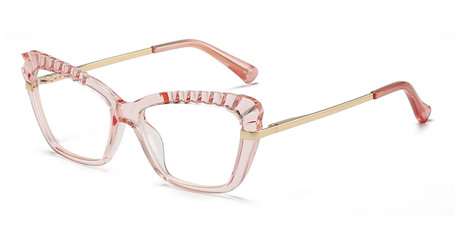 Giovanna-Cp and metal frame glasses with spring hinge