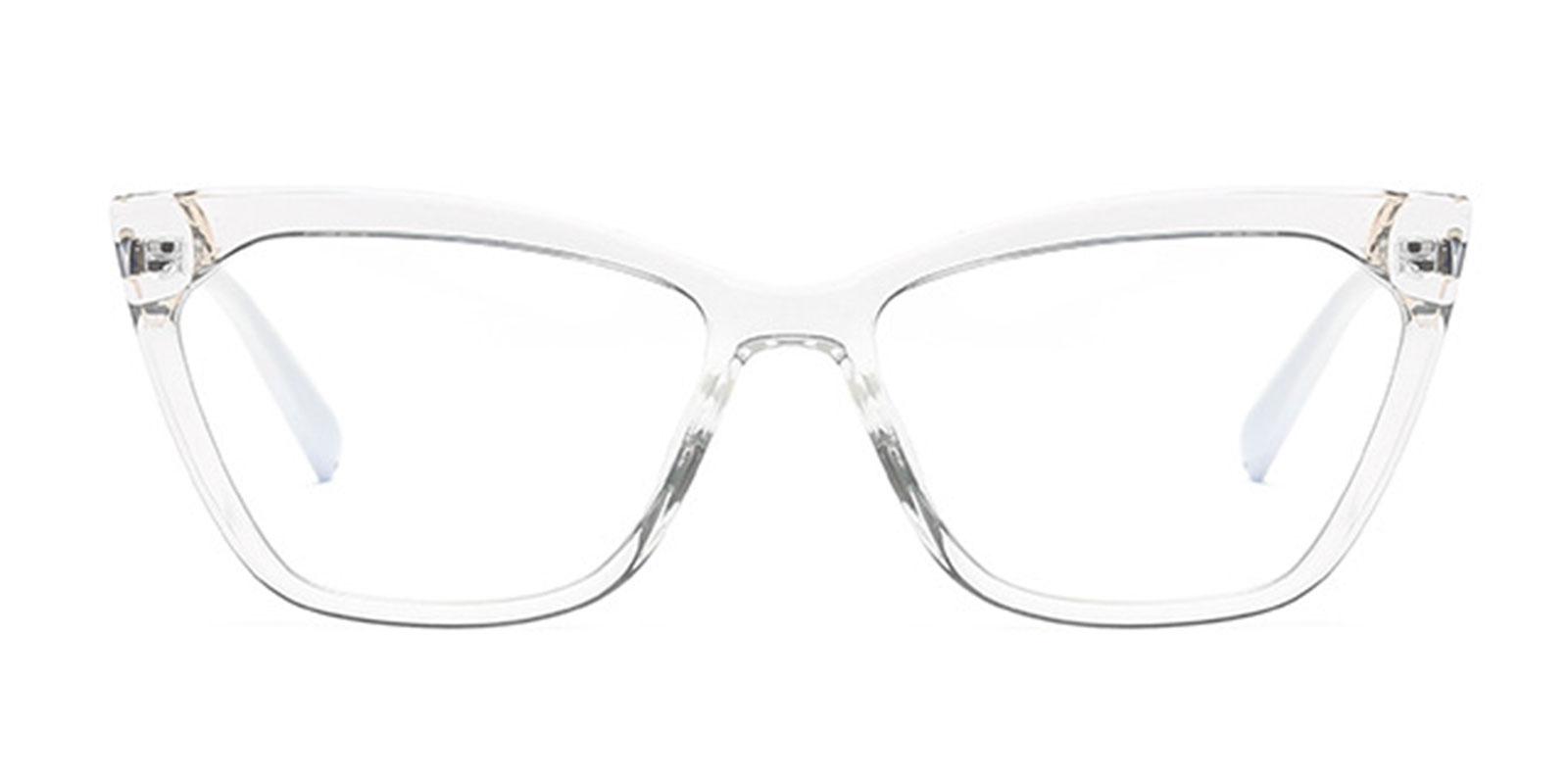 Mariska-Trending TR90 Cat Eye Transparent Anti Blue Light Eyeglass Frames