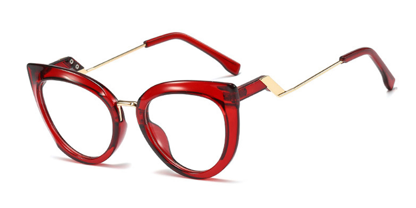 Marimba-New Style Designer Black Cat Eye Frame Eyeglasses Womens