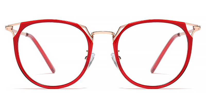 Amaliaa-Round Tortoise Shell Glasses with Nose Pads