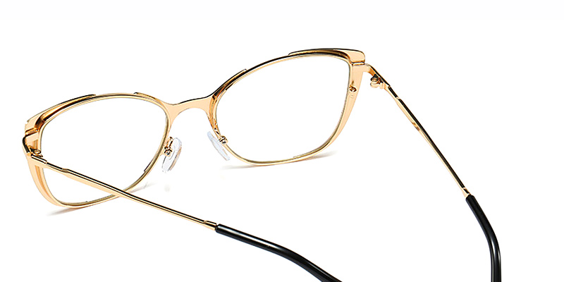 Aiyana-New Style Metal Cat Eye Glasses with Blue Filter Lenses