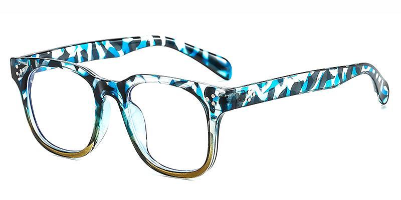 Aiyanaa-Rectangle Tortoise Shell Glasses for Big Heads