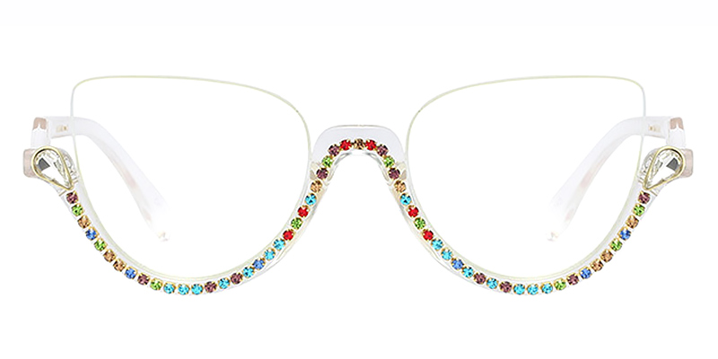 Behati-New Trendy Half Frame Glasses with Anti Blue Ray Function