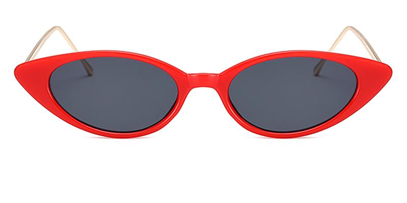 Bella-Fashion Ladies Cat Eye Sunglasses, All Grey Lenses