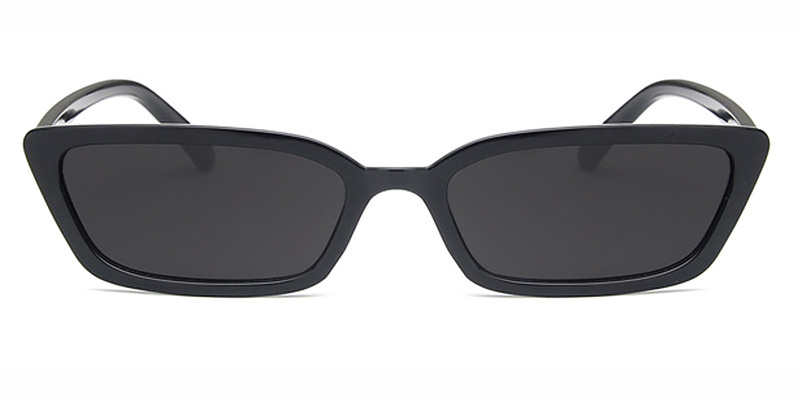 Kiki-Rectangle transparent retro ladies sunglasses TR90 material