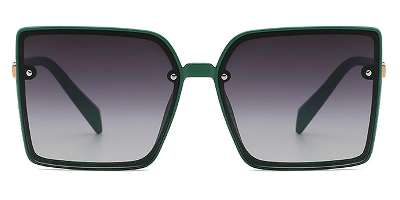 Phoenix-Square retro oversized gradient sunglasses for women
