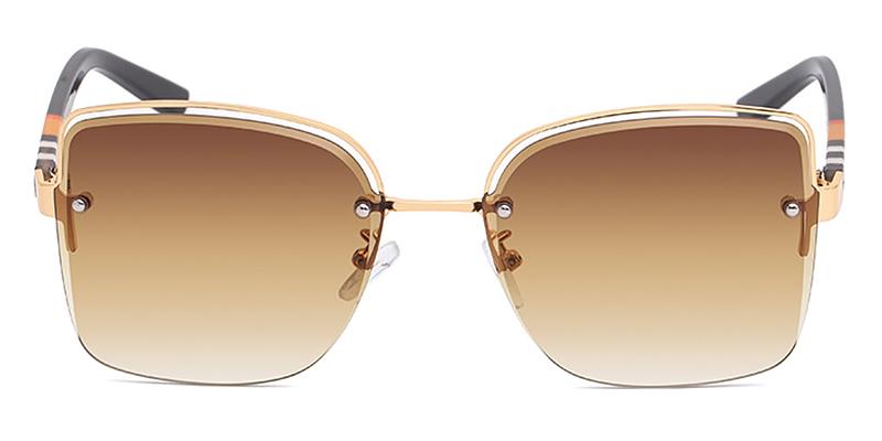 Ayla-Women Square Casual Sunglasses Metal Material
