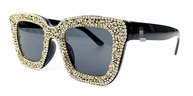Scarlett-Square frame diamond-encrusted women sunglasses