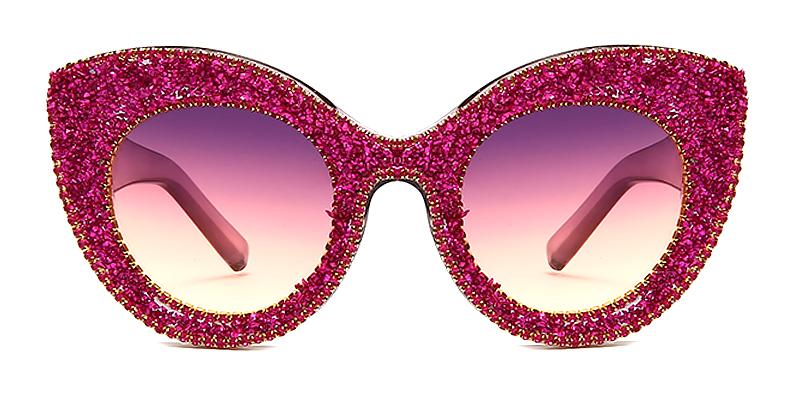 Imogen-Fashion retro colored diamond polarized ladies sunglasses