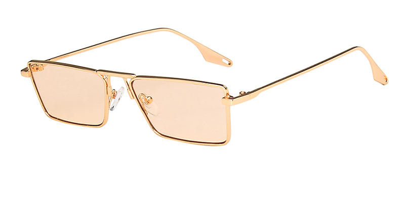 Bonnie-Rectangular casual sunglasses Metal material for women and men
