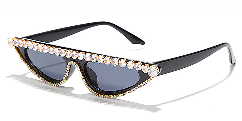 Annika-Fashion rhinestone cat eye diamond ladies sunglasses
