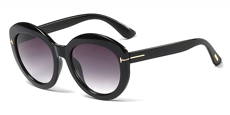 Suvi-Ladies oval casual sunglasses TR90 material