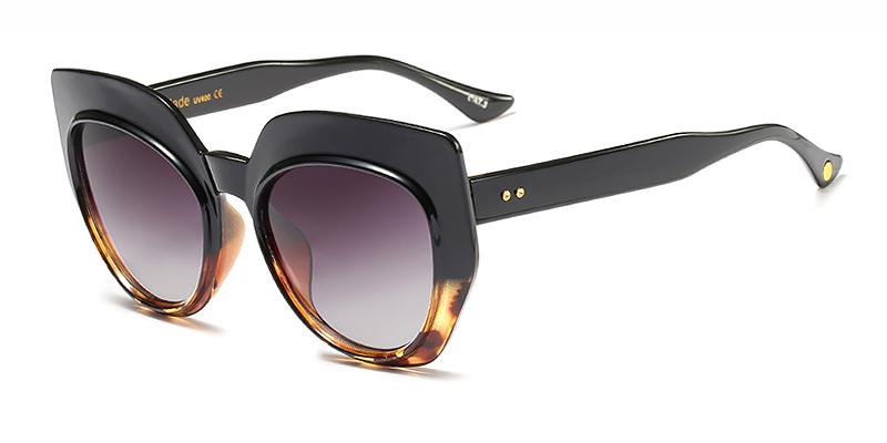 Matilda-Ladies Cat Eye Sunglasses Oval TR90 Material