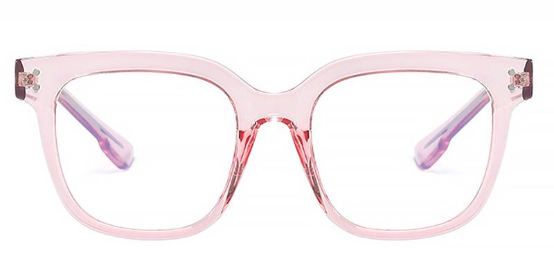 Dahila-Women Anti-Blue Light Square Frame Flat Lens Eyeglasses TR90 Material