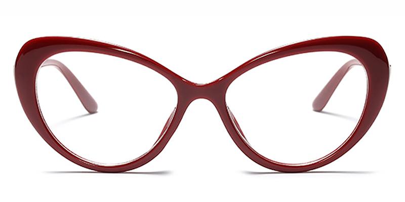 Sloane-Ladies Fashion Cat Eye Flat Glasses Personalized Leopard Frame Glasses