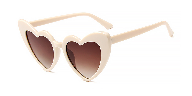 Oona-Trendy Women Heart Shaped All Grey Sunglasses TR90 Material
