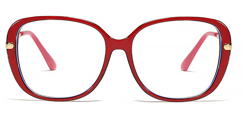 Channing-Spring legs flat tr90 round frame anti-blue light eyeglasses