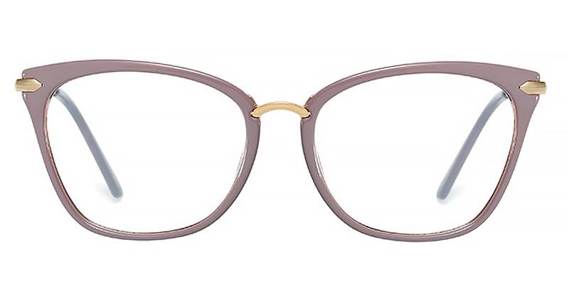 Eulala-Women simple retro metal decorative anti-blue light eyeglass