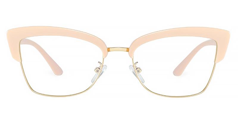 Zyanya-Half-rimmed blue light glasses for women TR90