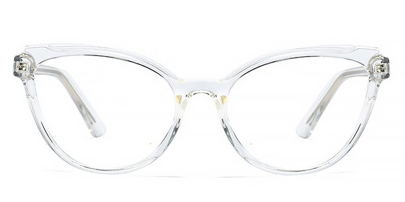Kayla-Full-rimmed cat-eye glasses in classic colors TR90