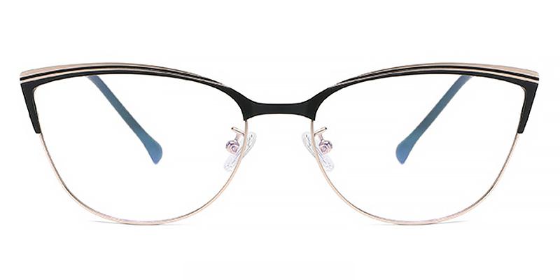 Iris-Stylish and versatile cat-eye glasses with metal frame