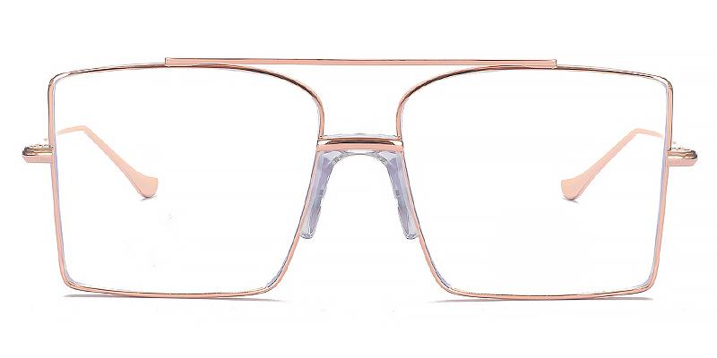 Lyle-2021 oversized square metal blue light glasses