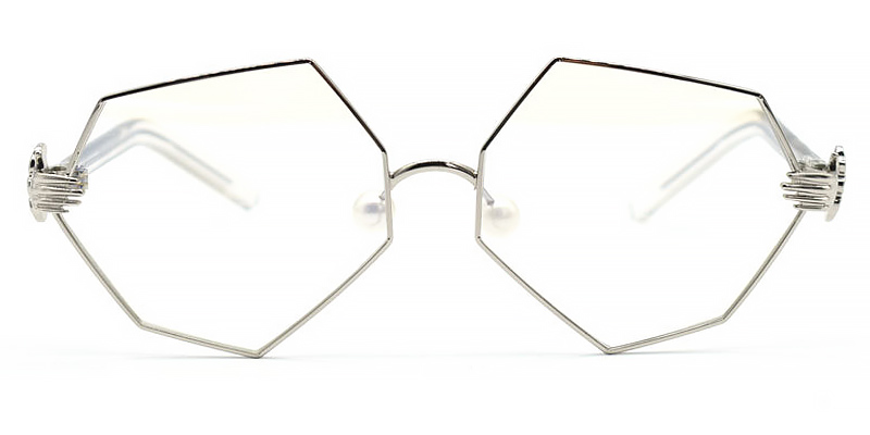 Rosabella-Stylish geometric glasses with metal frame for women and men