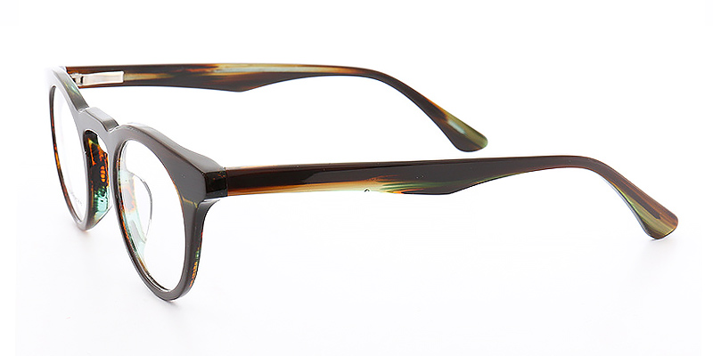 Koko-Best selling trendy glasses full-rimmed retro style with printed images