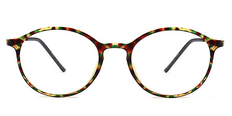 Julian-Ultra light round vintage glasses for women stylish colors full rim