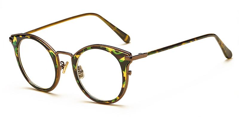 Joyce-Ultra light round glasses TR90 material matte colors