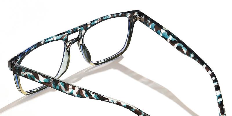 Mica-Double bridge blue light glasses square retro style with exquisite prints