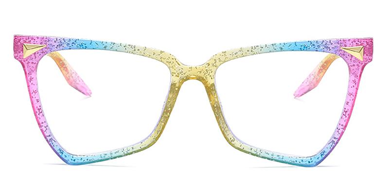 Tracy-Fashion coloful cat-eye glasses rainbow