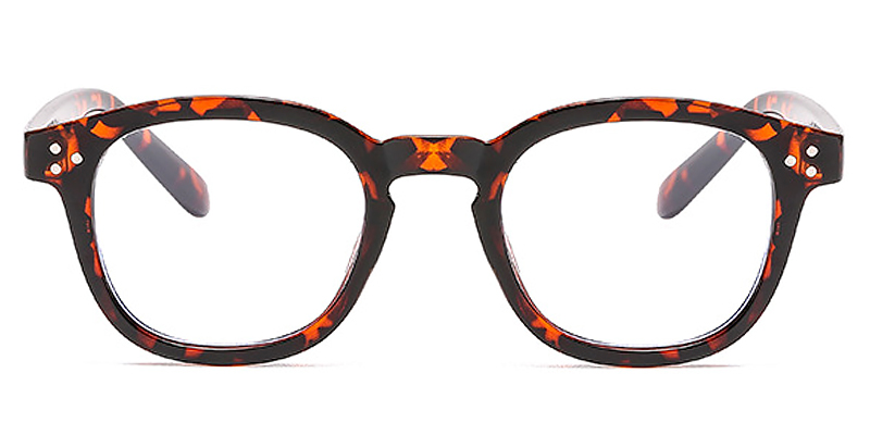 Snow-New blue light glasses square frame with stylish rivets