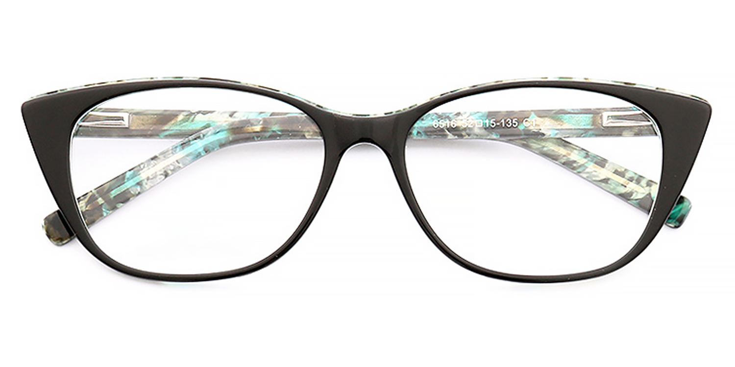 Florencia-Trendy oval-shaped frame, oval flat mirrored lens, fashionable color, full-frame glasses with spring temple arms