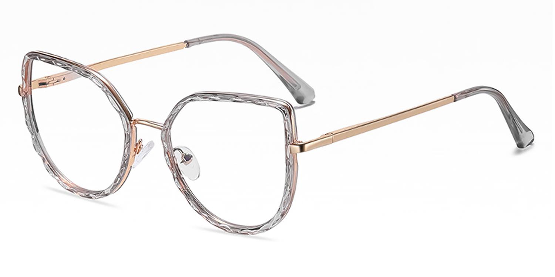 Joska-Trendy butterfly-shaped frame, flat mirrored lens,  diamond-cut surface, full-frame and anti-blue light glasses for both men and women