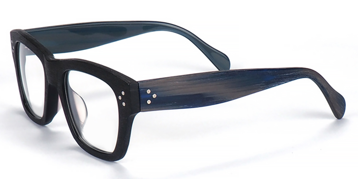 Hephzibah-Oval fashionable full-frame glasses, transparent frame, rainbow-colored temple arms