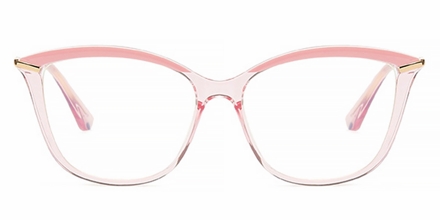 Huntley-Fashion Personality TR90 Spring Hinge Cat's Eye Glasses for Women