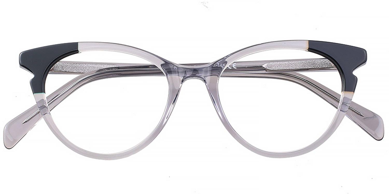 Corisande-4 Colors Acetate Vintage Oval Glasses for Women