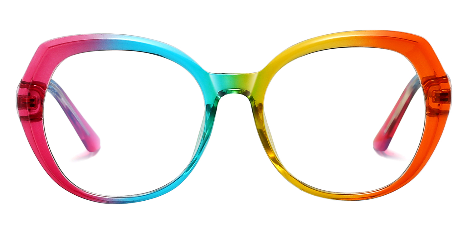 Finian-6 Colors Colorful Personalized Fashion   Oval Glasses for Women