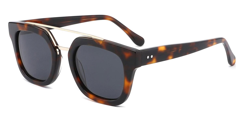 Octaviana-4 Colors Acetate Tortoiseshell Vintage UV400 Shades Aviator Glasses for Women and Men