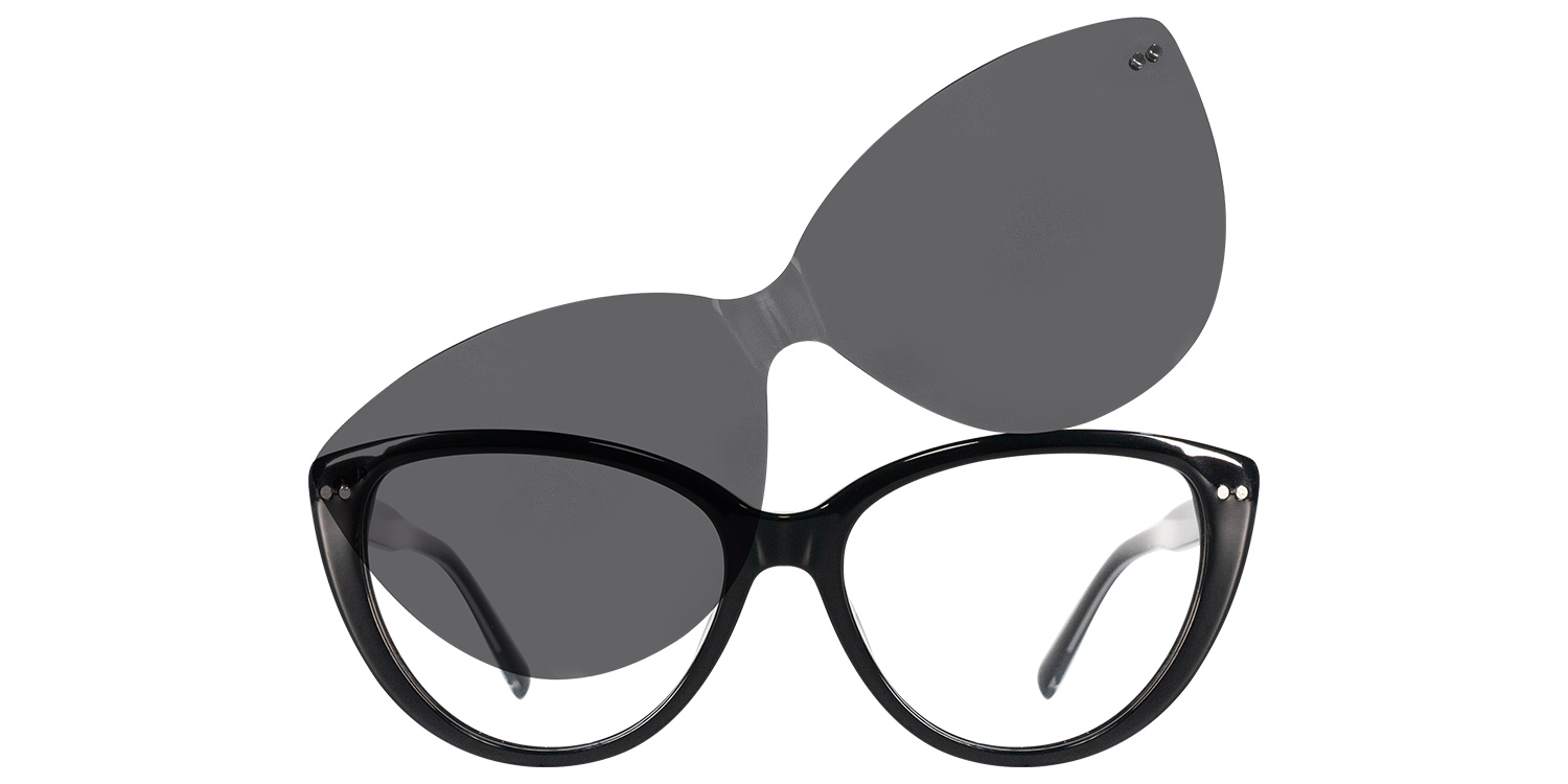 Olwyn-4 Colors Acetate Causal Fashion Trendy Cat's Clip On Glasses for Women