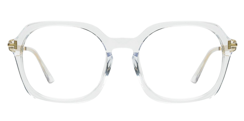 Haruko-4 Colors Special   Transparent  Ordinary Acetate Square glasses for women