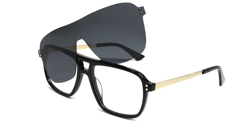 Rishi-3 Colors  Trendy  Aviator clip on glasses for women an men