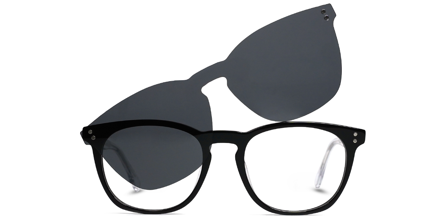 Sindry-3 Colors Vintage  Oval  clip on glasses for women and men