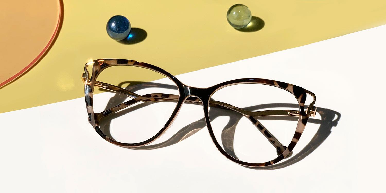 Odette-Tortoiseshell Casual cat eye glasses for women