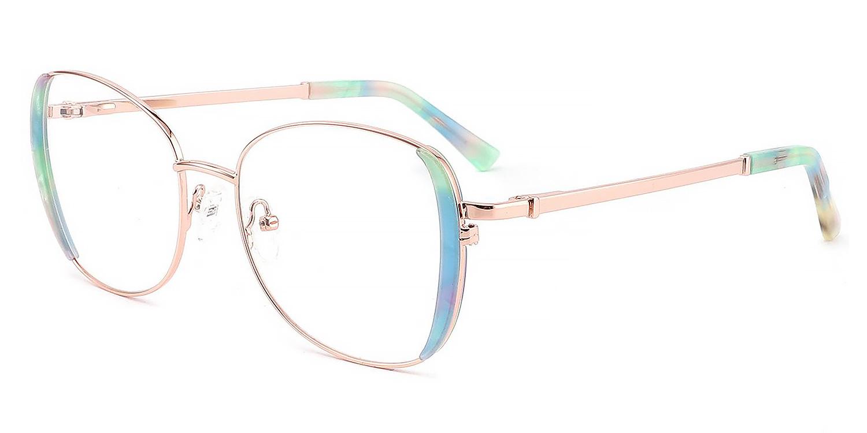 Mirja-4 Colors Rainbow Color Decoration Acetate Oval Glasses for Women