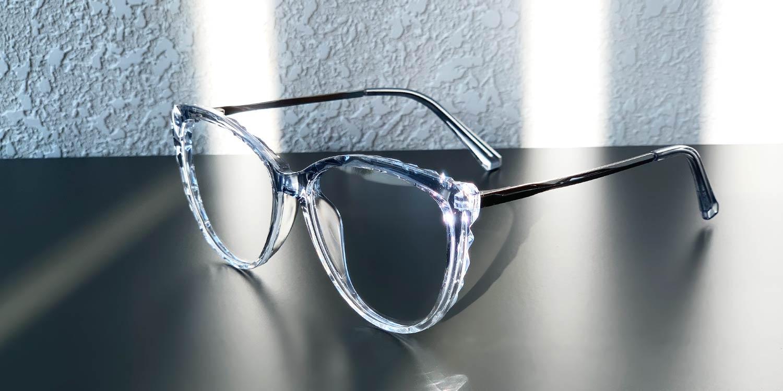 Pomona-Special frame shape Casual Cat eye glasses for women