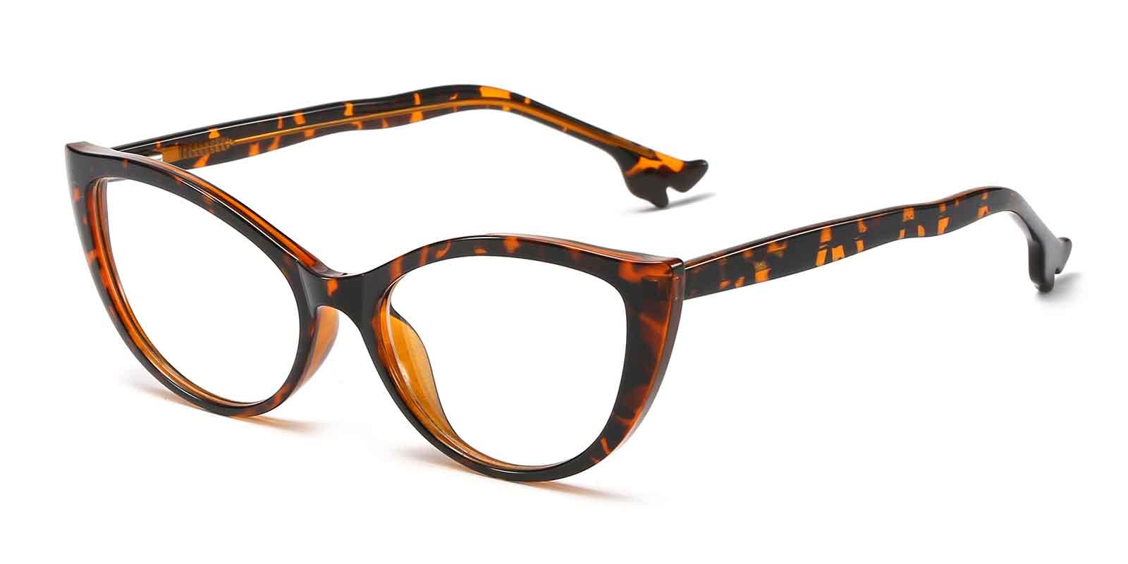 Pola-Cat eye glasses: adjustable spring hinge frame