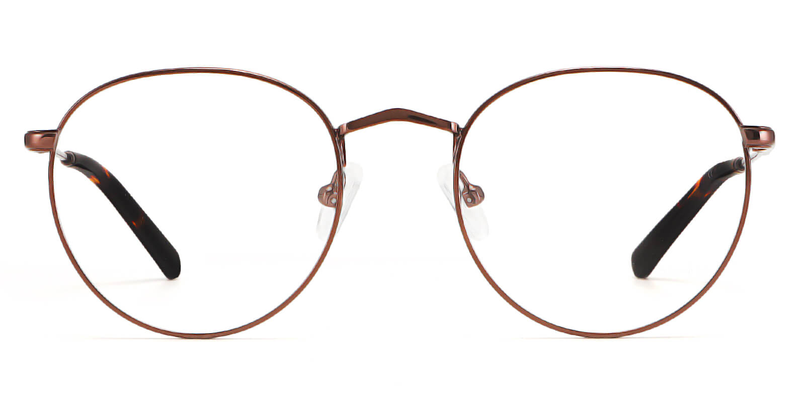Leslie-Round glasses with full rim metal frame all-day comfort