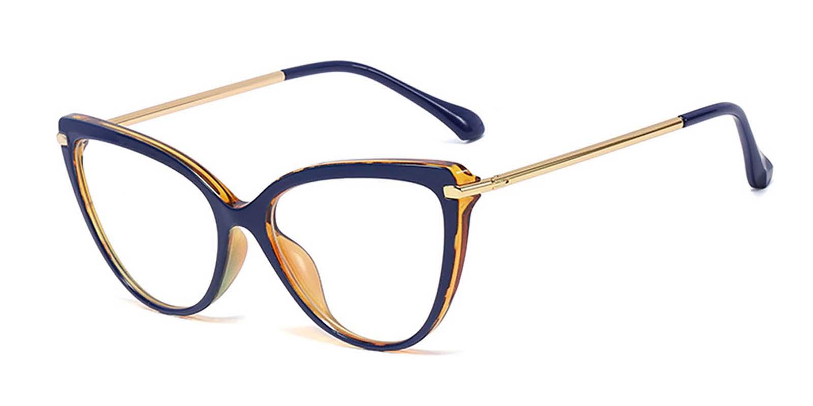 Melisande-Cat eye glasses with Delicate super light metal combo frames